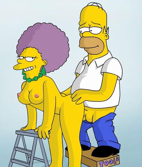Sex nackt freundin simpson Cartoon Bart